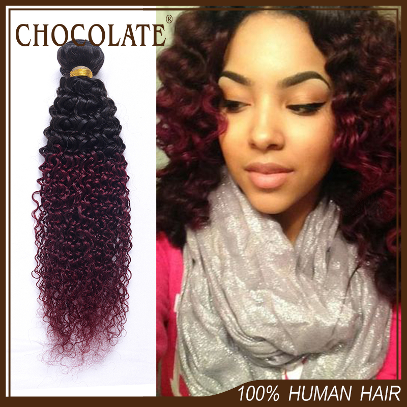 Chocolate hair weave prices images hair extension hair kinky curly virgin hair 8a ombre burgundy colored malaysian kinky kinky curly virgin hair 8a ombre pmusecretfo Image collections