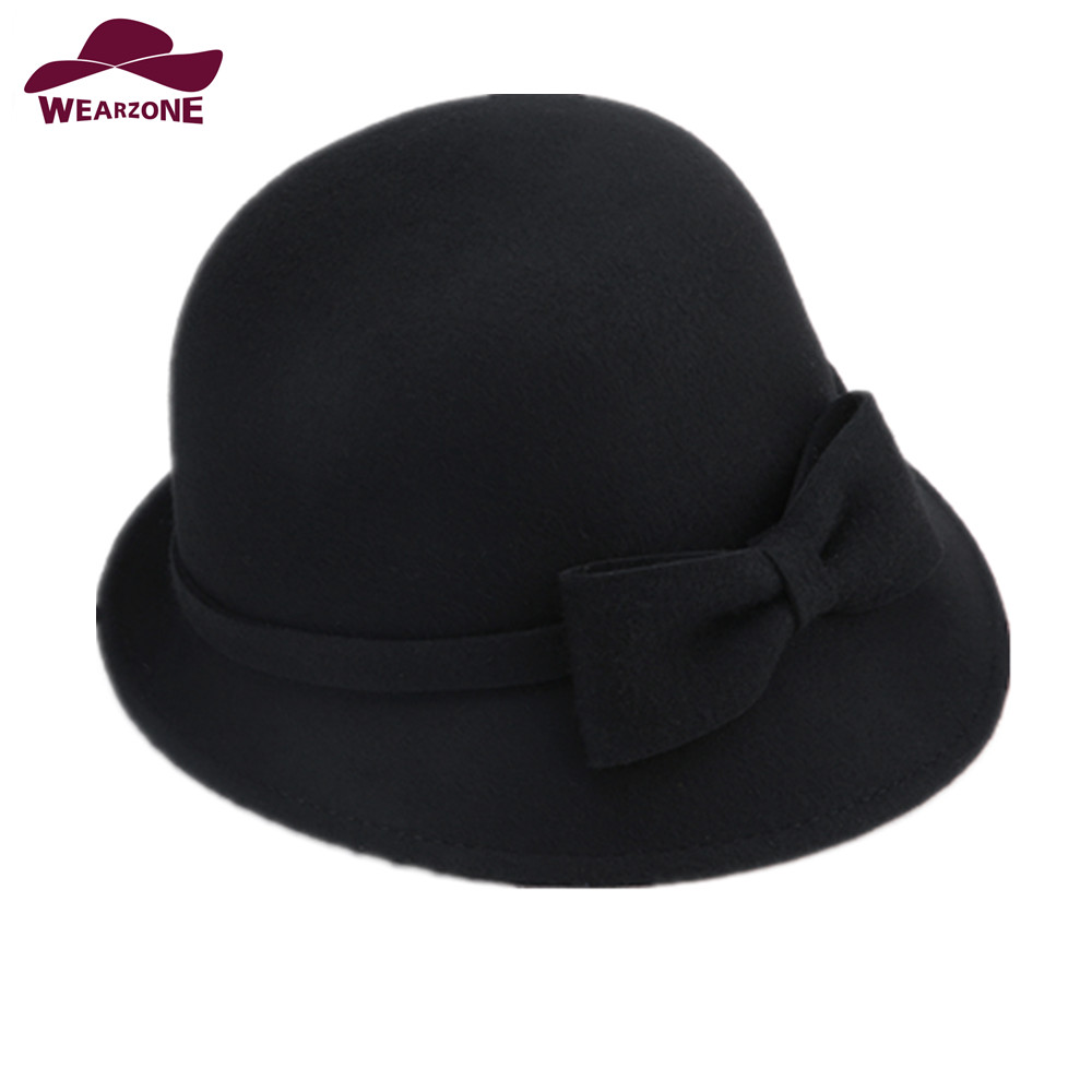 2017 New womans caps Fedora Hats Wool Fedoras Vint