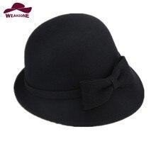 2017 New woman's caps Fedora Hats Wool Fedoras Vintage churc