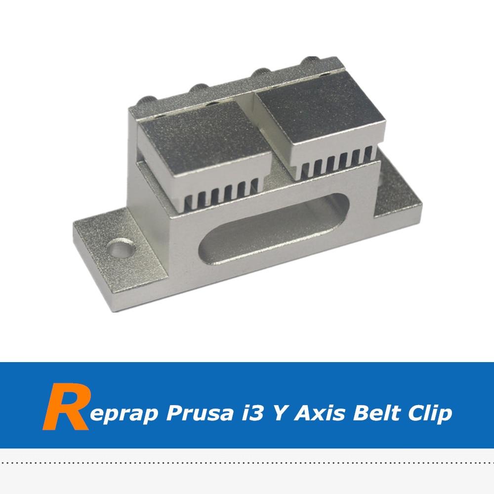 1pc 3D Printer Part Reprap Mendel Prusa i3 Y Axis Print Station Aluminum Fixed Belt Clip, Timing Belt Holder Tensioner