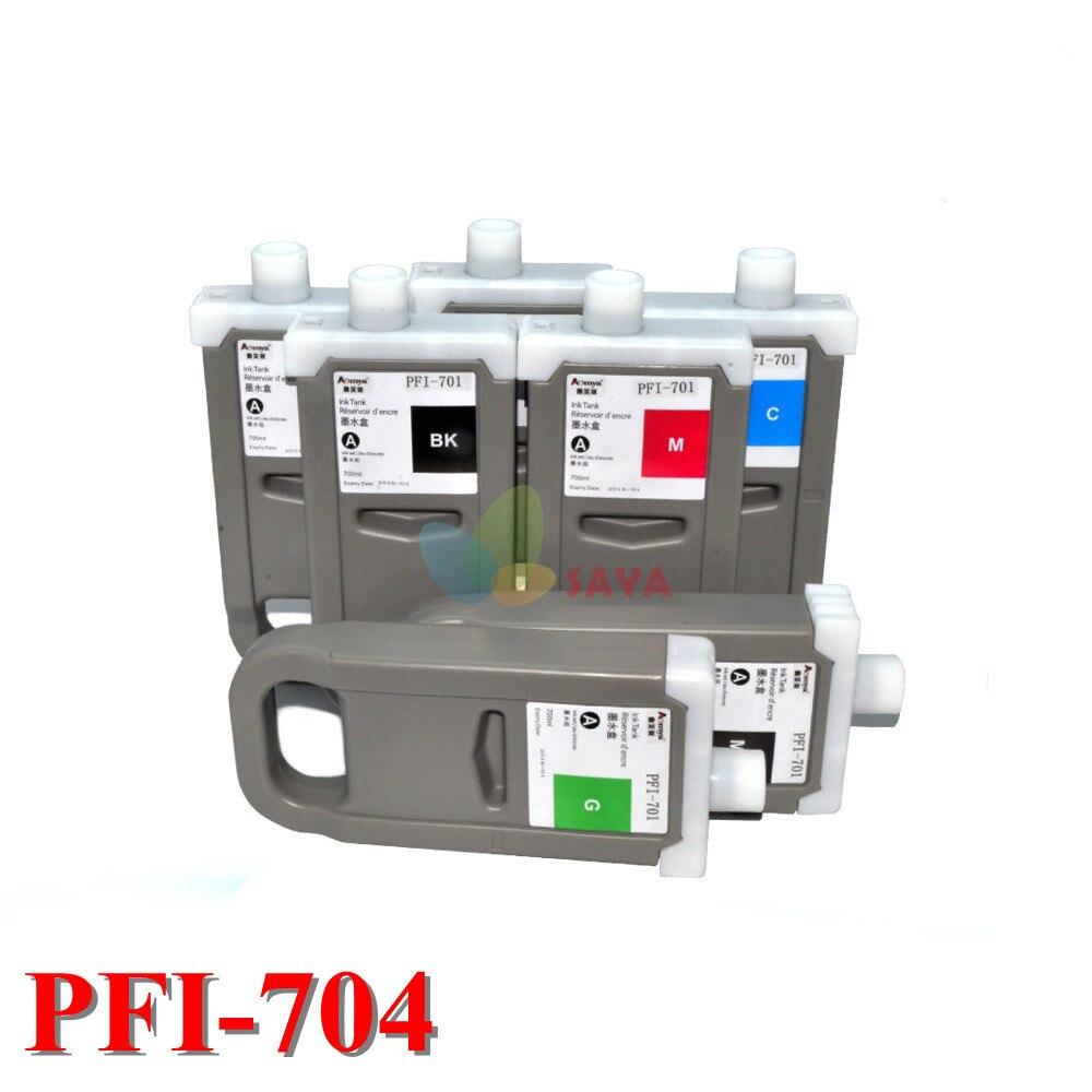 8 цветов для Canon PFI704 Совместимый картридж для принтера Canon IPF 8300s 700 мл с чипом с пигментными чернилами