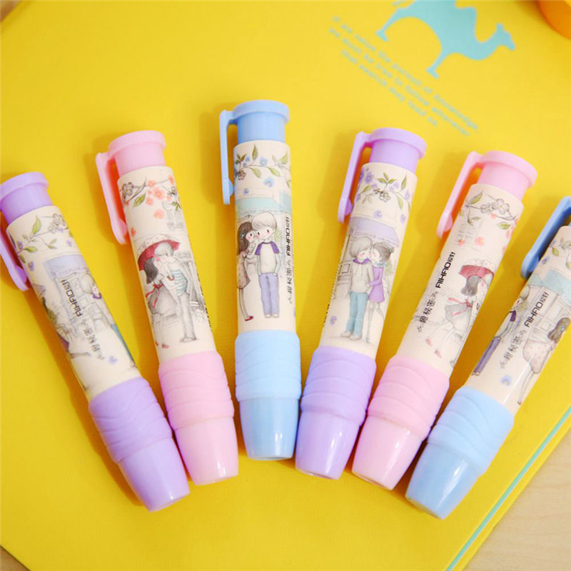 High Quality Pencil Eraser in Pen Shaped Rubber for Artist School Office Hot#