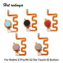 Get more info on the Home Return Menu Button Flex Cable For Xiaomi Redmi 6 pro Fingerprint Touch Sensor ID Ribbon Parts For Xiaomi mi A2 lite