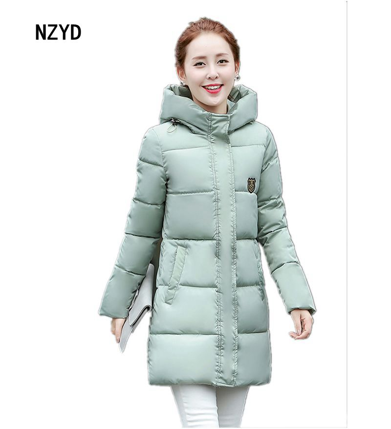 2017 Latest Winter Fashion Women Down jacket Hooded Thick Super warm Medium long Coat Long sleeve