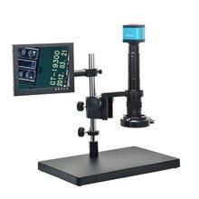 On sale 14MP HDMI USB Digital Industry Video Microscope Camera+Big Boom Stand Universal Bracket+8″ inch LCD Monitor+300X C-MOUNT Lens
