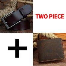COWATHER erkekler kemer ve cüzdan seti pin toka inek hakiki deri kemer erkekler için moda cüzdan takım elbise en kaliteli çanta ücretsiz kargo