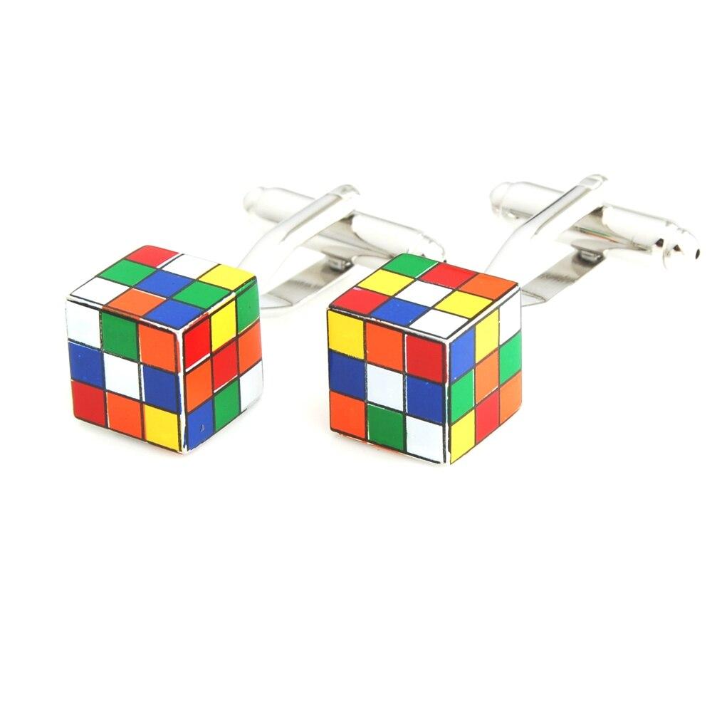YH-1913 Neuheit Magie Cube,Jigsaw Puzzle Stück, Kreuz Manschettenknöpfe