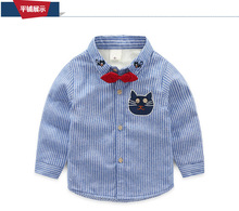 2016 Autumn winter thick velvet cotton solid baby kids Blouse boy shirts long sleeves for children boys christmas gift 3-7T