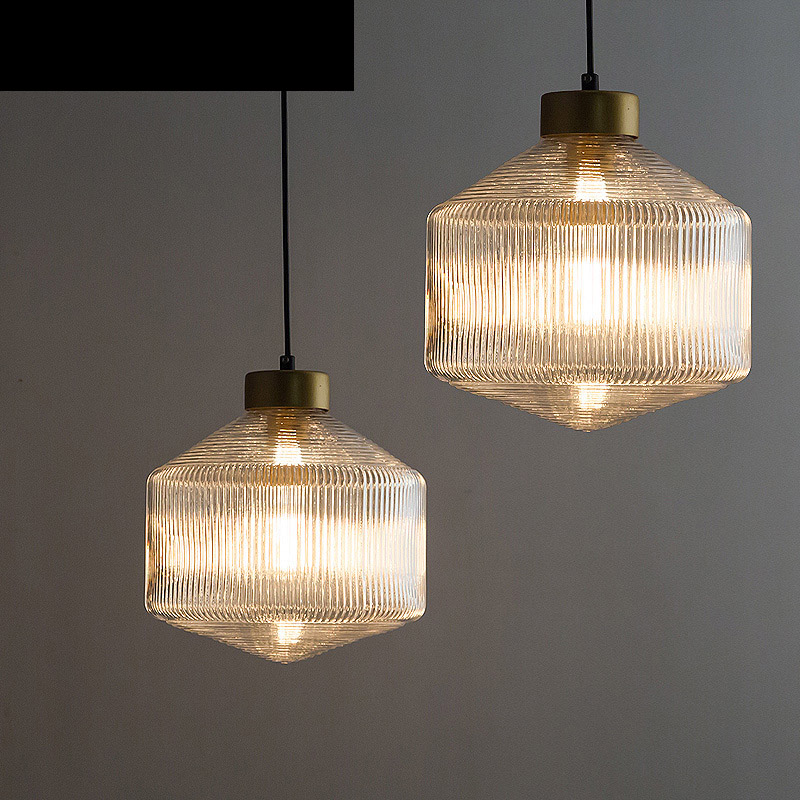 Nordic glass chandeliers single head restaurant coffee shop stair light modern minimalist creative industrial vintage led lamps