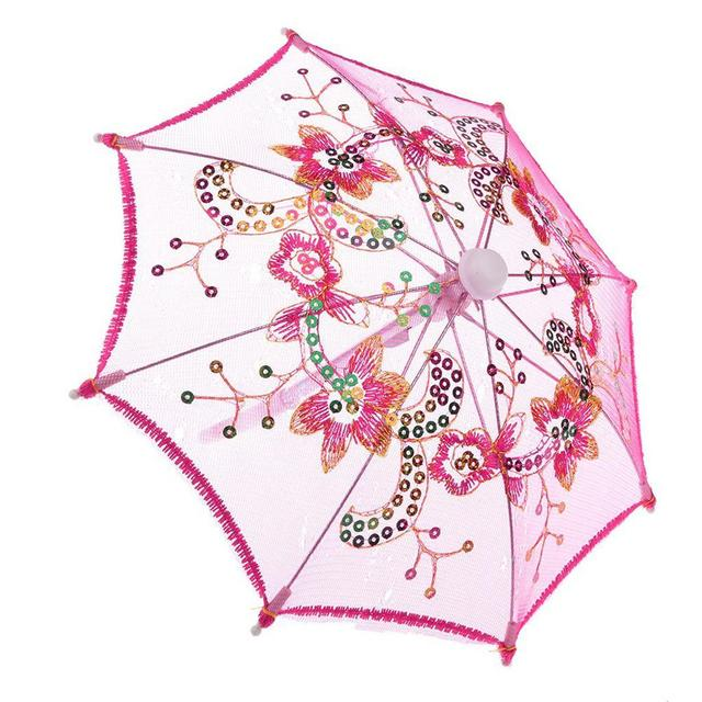 Lace Sequins Umbrella For 16-18 Inch Barbie Doll