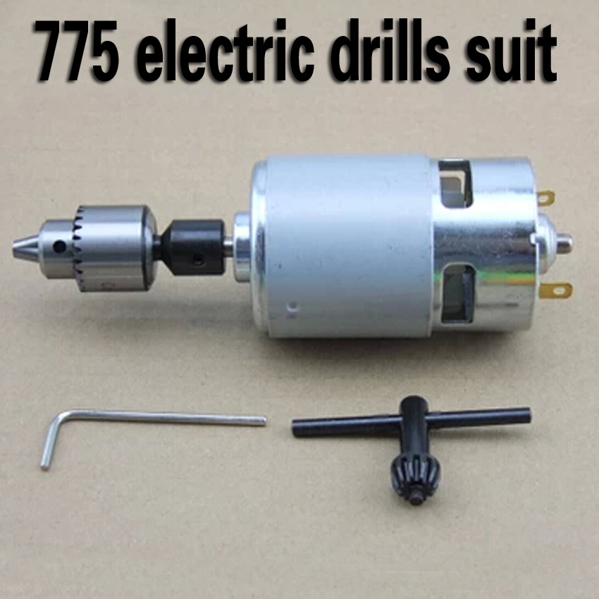 Electric drills suit 4500RPM High-powered Torque 4KG*CM  DC12V motor 775 high-torque electric drills Electric mill Ball BearingsElectric drills suit 4500RPM High-powered Torque 4KG*CM  DC12V motor 775 high-torque electric drills Electric mill Ball Bearings