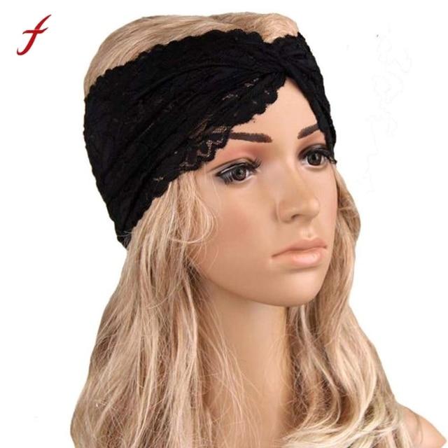 Hair Clips For Women Headwear Twist Sport Yoga Lace Headband Turban Headscarf Wrap Turban Diadema Pelo Muje