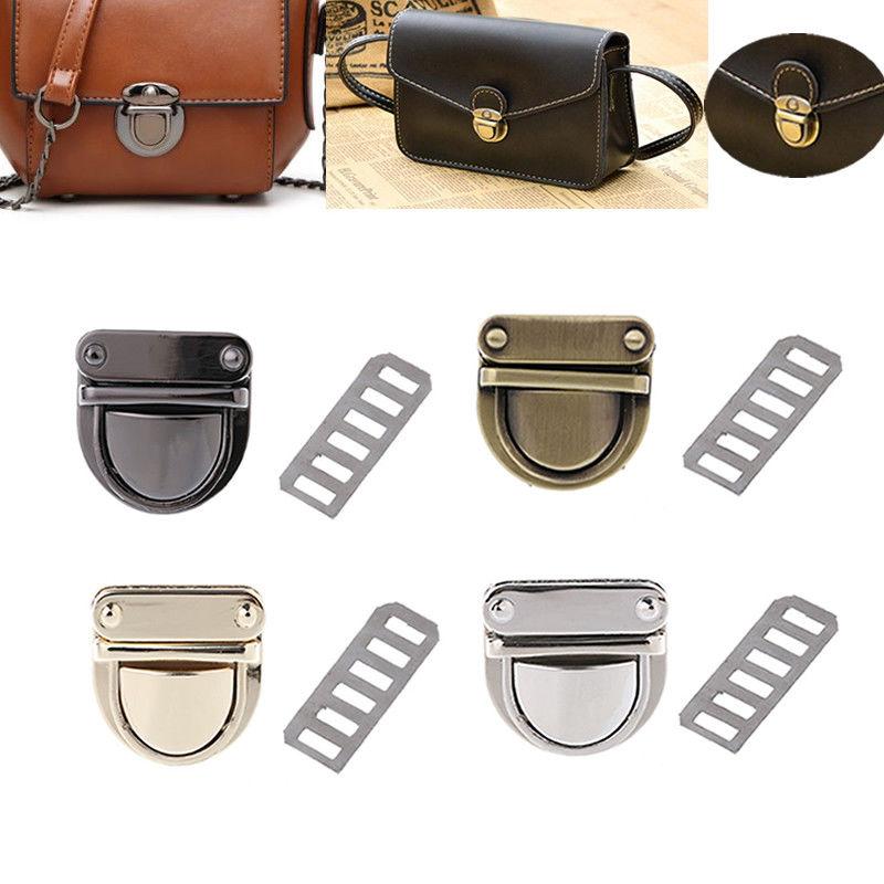 THINKTHENDO Metal Clasp Turn Lock Twist Lock for DIY Handbag Bag Purse Hardware Closure Bag Parts Accessories