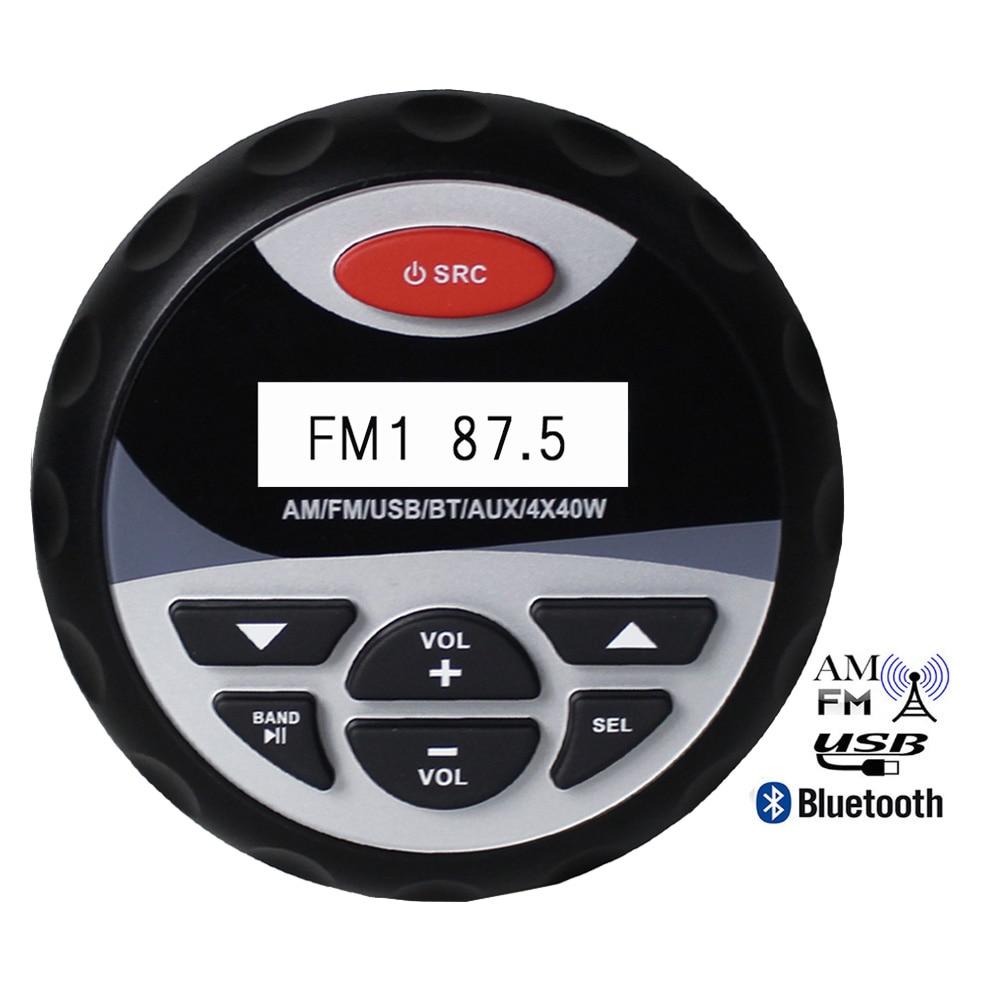 Impermeabile Marine Stereo Bluetooth Radio Digital Media Audio FM AM ...