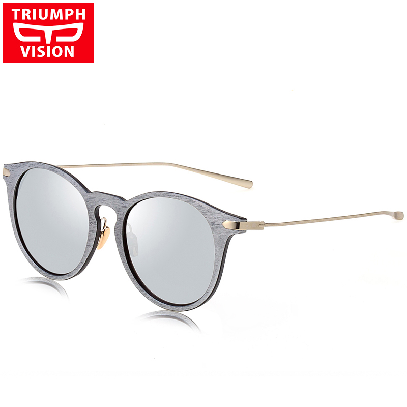 0782ea1641ea4 TRIUMPH VISION Silver Mirror Sunglasses Unisex Retro Round Sun Glasses For  Women Men 2016 Brand Designer Shades Vintage Oculos