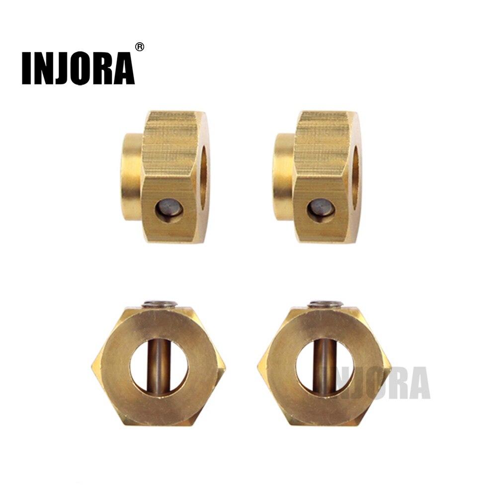 INJORA 5/8. 5/10mm Schwerer Messing 12mm Rad Hex Erweitert Adapter für RC Crawler Traxxas TRX4 TRX-4
