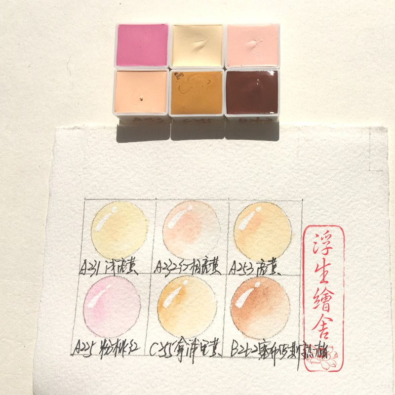 0 5 1 2ml Rubens watercolor paint Makaron candies color separation figure skin color fresh illustrations in Paint By Number Paint Refills from Home Garden