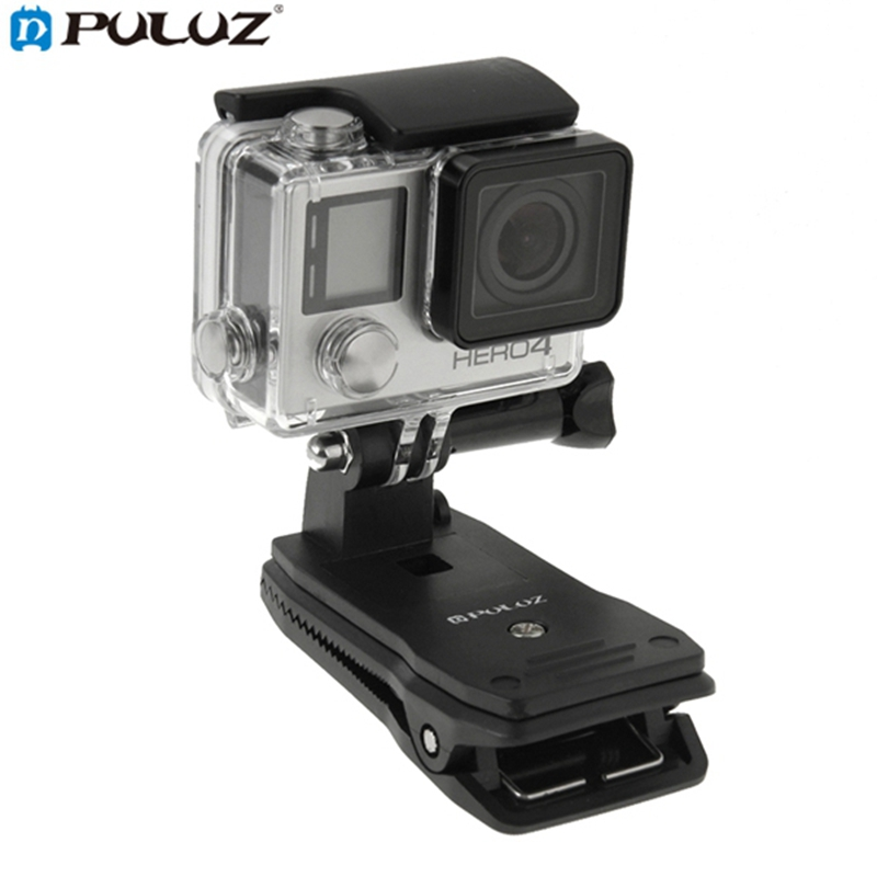 PULUZ 360 Degree Backpack Quick Release Hat Clip Fast Clamp Mount for Gopro SJCAM for Xiaomi Yi Plastic Sport Camera Accessories