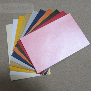 "Image 2 - 50pcs 17x11cm(6.6"" x 4.3"") 120g Pearl Color Paper Envelope for Invitation Greeting Card Postcard"