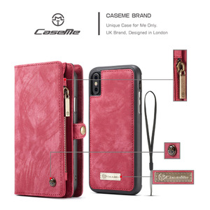 Image 2 - CaseMe Leather Flip Cover For iPhone 11 12 Pro Max SE 2020 Case Multi functional Magnet Cell Phone Bag For iPhone 6 7 8 Plus 10