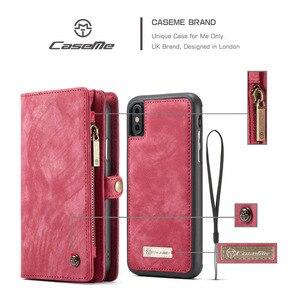Image 2 - CaseMe Vibrazione del Cuoio Della Copertura Per il iPhone 11 12 Pro Max SE 2020 Caso Multi funzionale Magnete Delle Cellule Sacchetto Del Telefono per iPhone 6 7 8 Più di 10