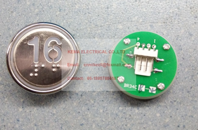 Blue Leds White Leds With Braille Sincere Elevator Push Button Br34cb Elevators & Elevator Parts