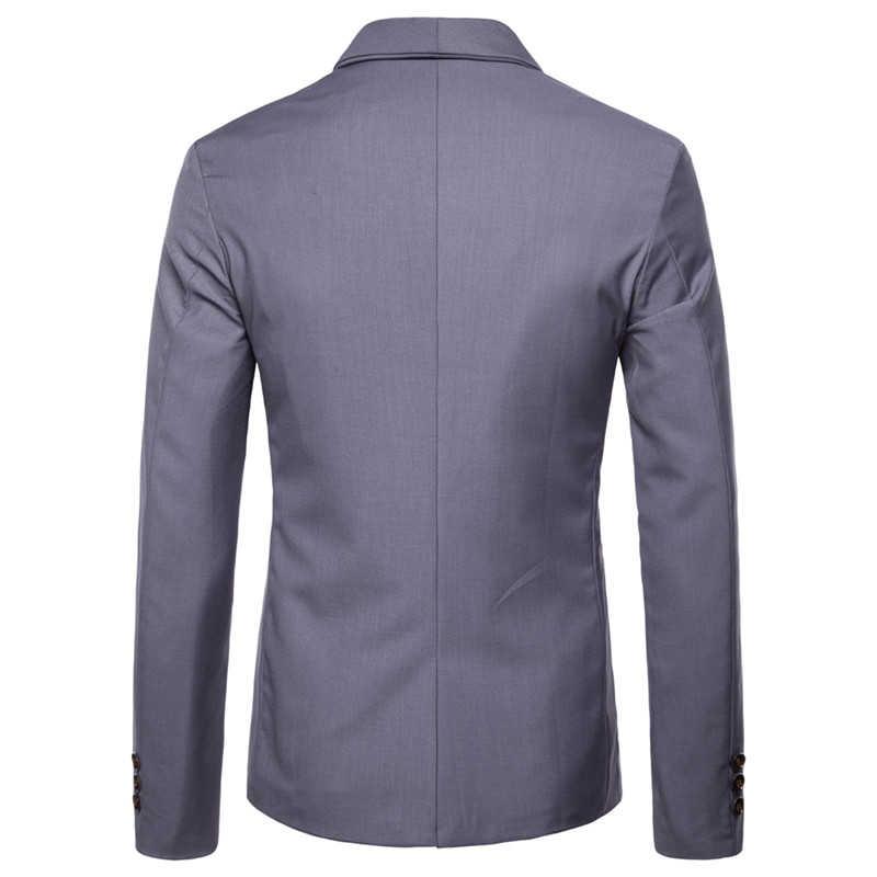 ダブルブレスト男性のジャケットのスーツのジャケットフォーマルビジネスジャケット紳士服