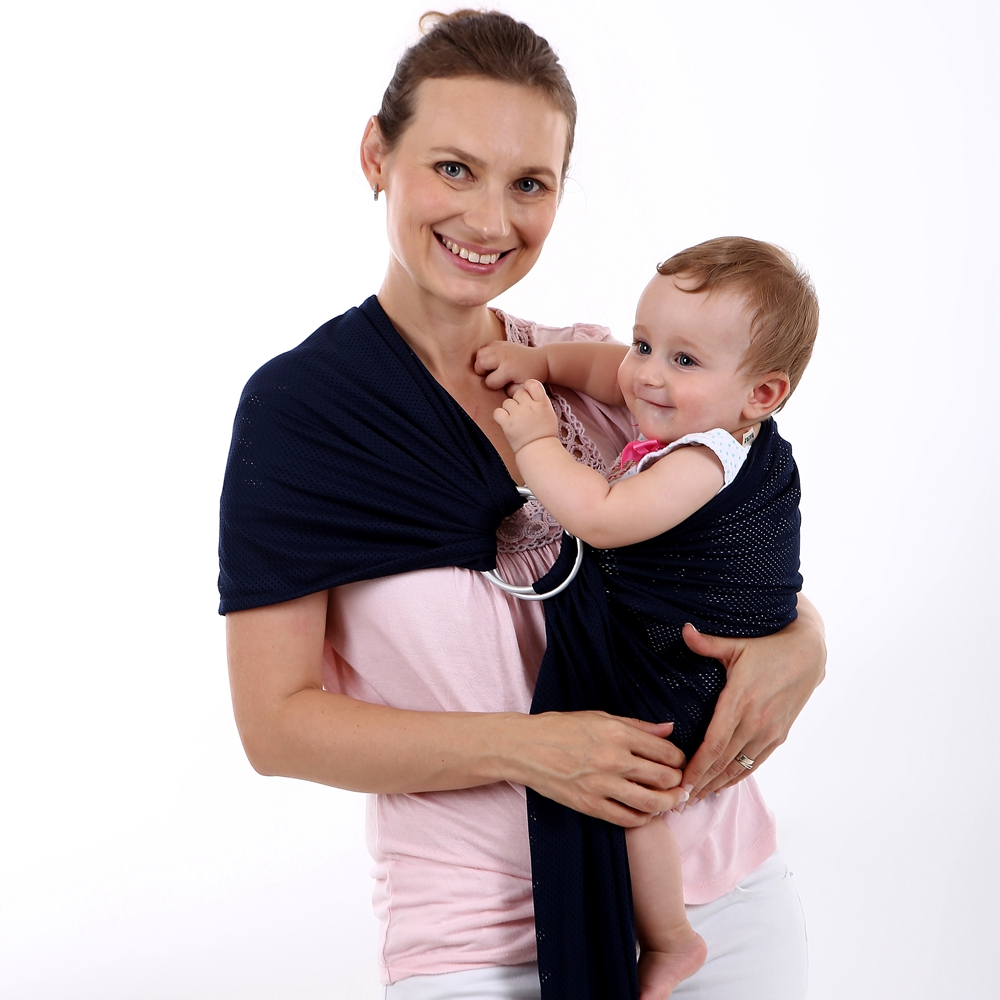 EGMAOBABY-anneau réglable en aluminium   Porte-bébé porte-écharpe à eau, maille à séchage rapide, sangles enveloppe extensible