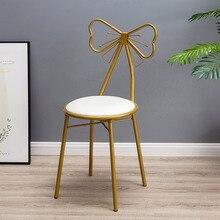 Современный минималистичный комод Ins скандинавские Девушки Сердце спальня сзади принцесса лук Маникюр стул для макияжа