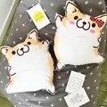 1 pc 45 cm Figura Dos Desenhos Animados Corgi Recheado de Almofadas De Pelúcia Almofada de Pelúcia Animal Bonito Crianças Brinquedos de Presente de Aniversário
