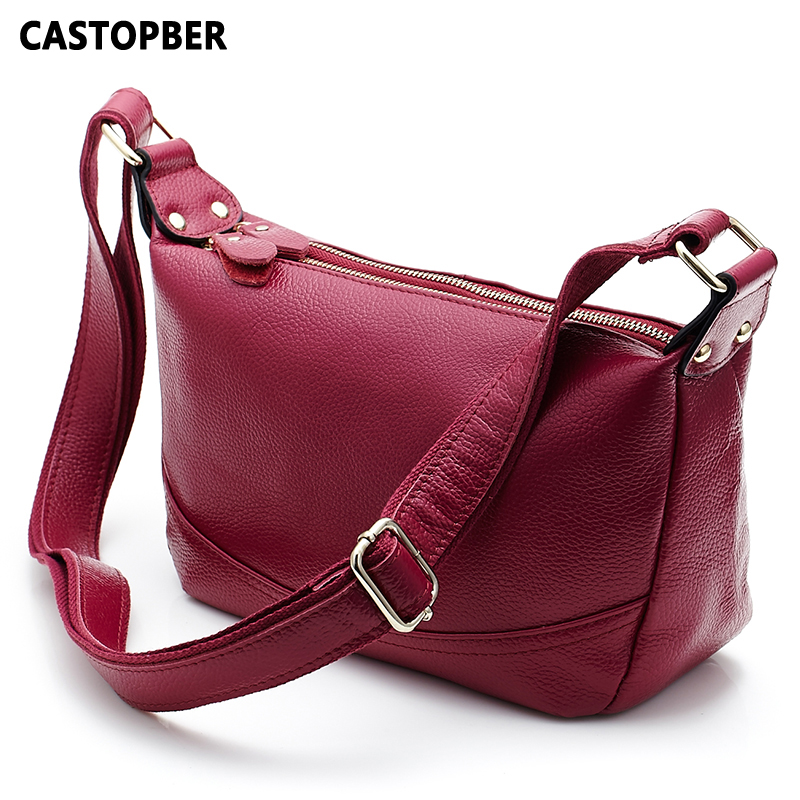 Fashion First Layer Cowhide Genuine Leather Woman Handbag Ladies Crossbody Bags One Shoulder Handbags High Quality Female Famous 2017 spring and summer new women genuine leather handbags fashion litchi grain first layer of leather bags female shoulder bags