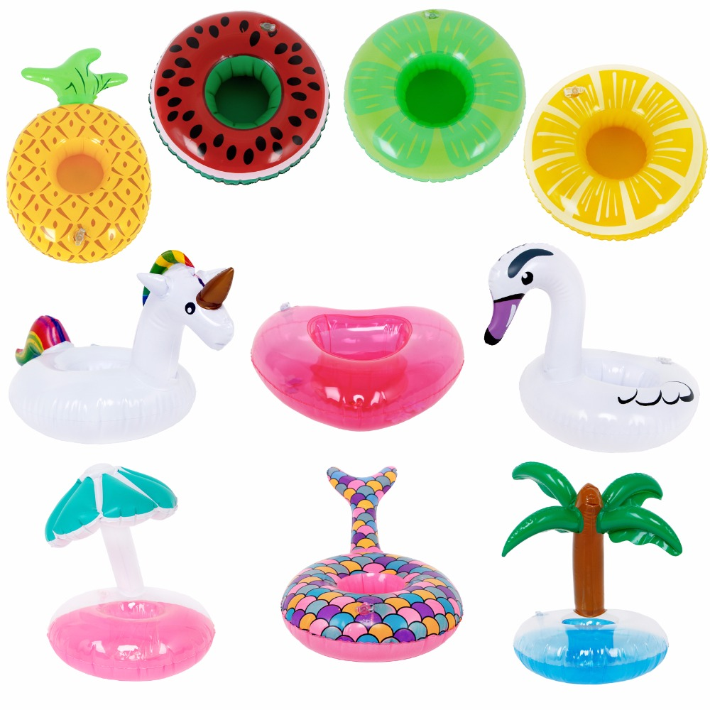 Colorful Mini Swimming Lifebuoy Mixed Style Flamingo Lemon Mushroom Cute Summer Beach Pool Ring Accessories For Barbie Doll Toy