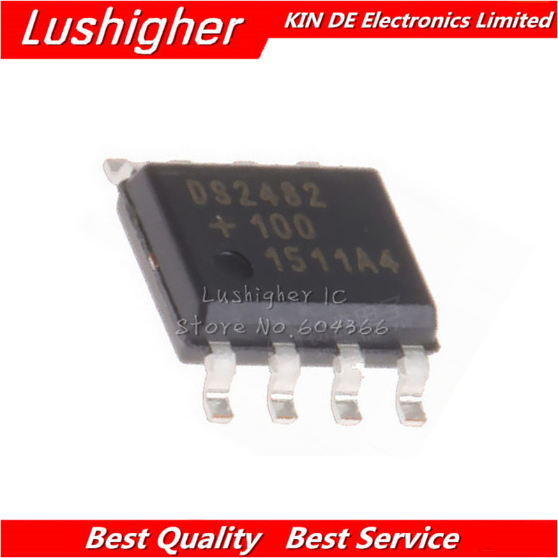 2pcs DS2482 DS2482S-100 DS2482S-100+ DS2482-100 SOP-8 Single-Channel 1-Wire Master