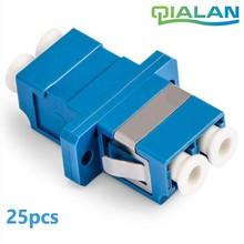 цена на LC UPC Fiber Optic Adapter Simplex Fiber Flange Singlemode LC Optical Coupler Plastic Ftth Fiber Optic Connector LC PC