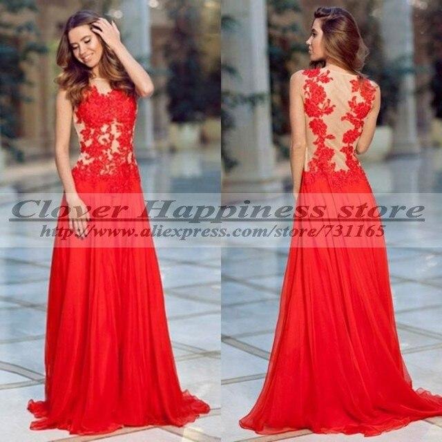 Aliexpress Com Compre Vestidos De Festa Longo Vermelho