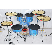 MUMAN Drum Mute Size 10,12, 13, 14, 16 Inches, Hi-hat and 3 Cymbal Mutes Bass Drum Silencer Drumming Practice Pad