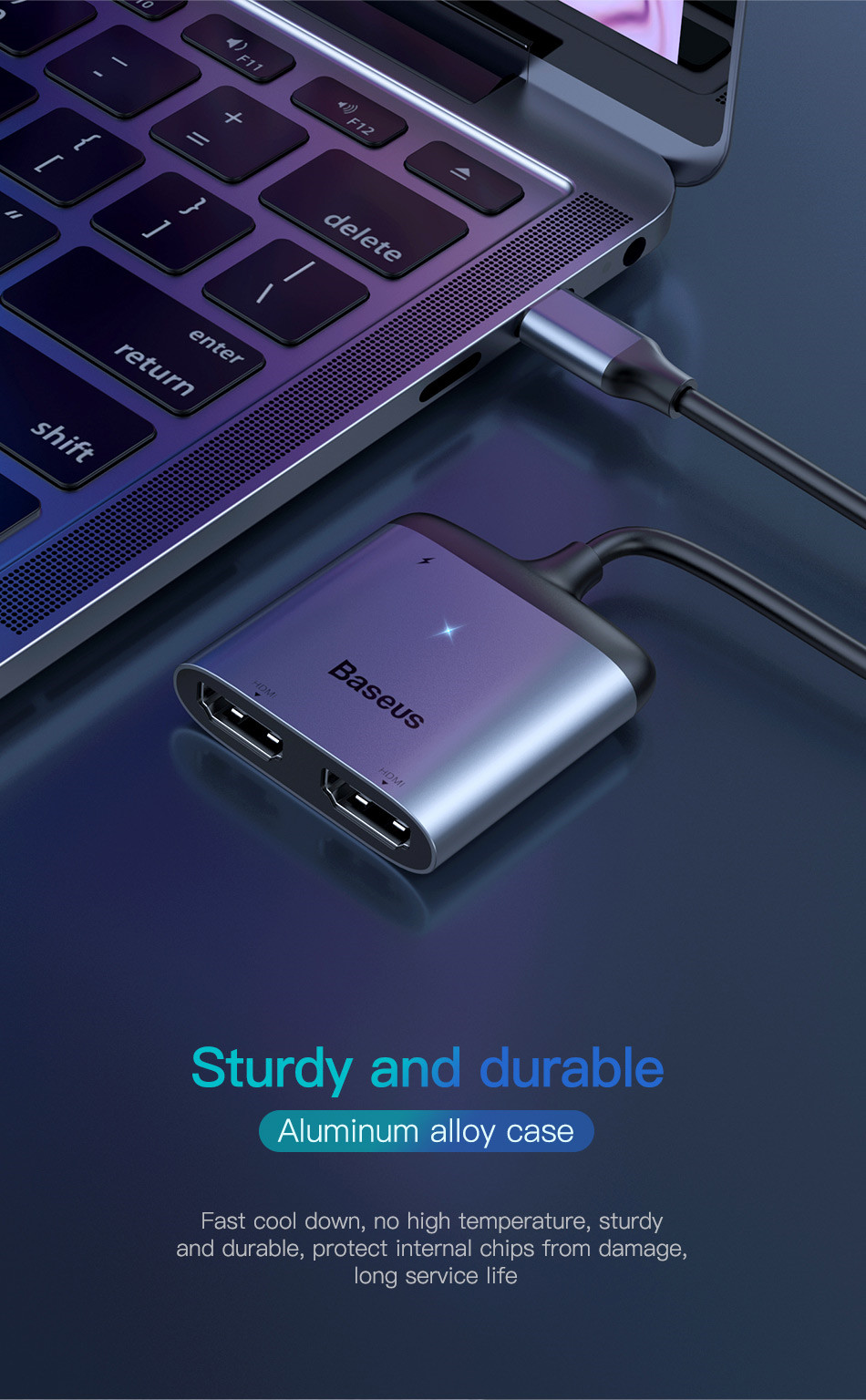 Baseus Type-C RJ45/HDMI/Card Reader
