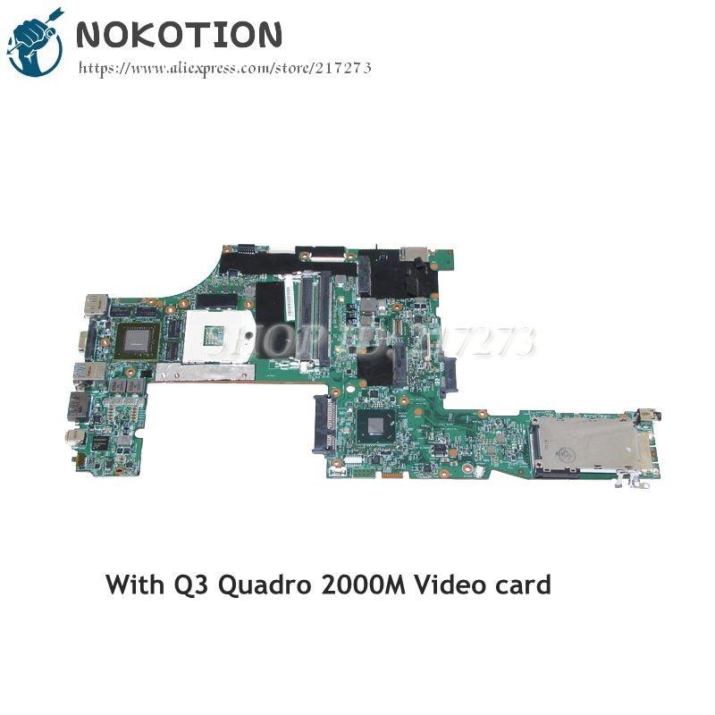 NOKOTION LKN-3 WS MB 48.4KE27.051 For Lenovo Thinkpad W520 Laptop Motherboard FRU 04W2029 QM67 Q3 Quadro 2000M Video card