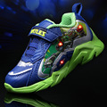 New Arrived Teenage Turtles Basket Led Kids Light Up Shoes for Boys Girl Trainers Led Children Shoes with Light Footwear Enfant