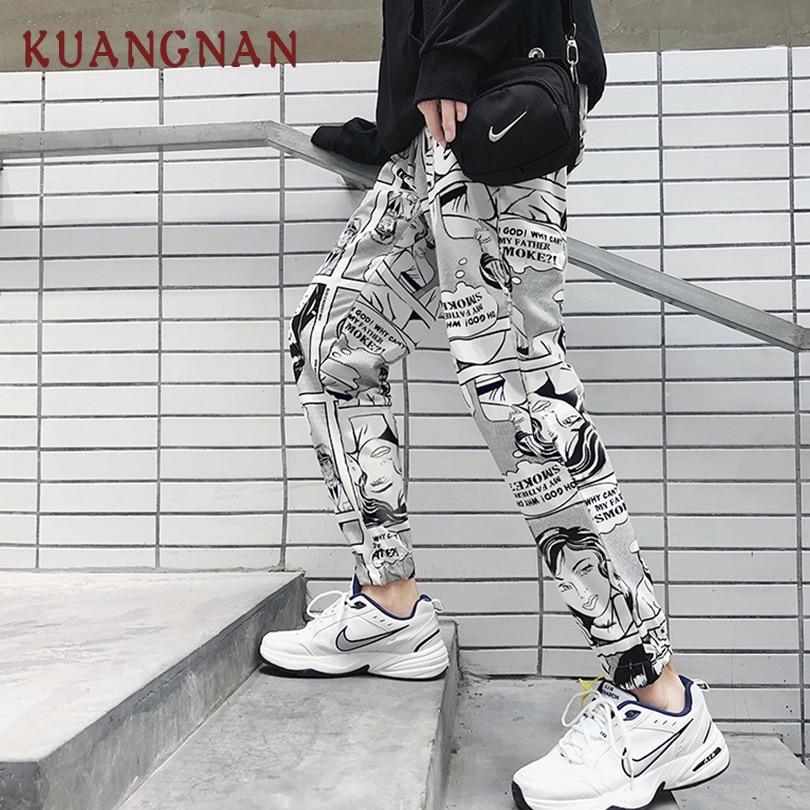 KUANGNAN Men Trousers Pants Streetwear New Hip-Hop 5XL Small Fashions
