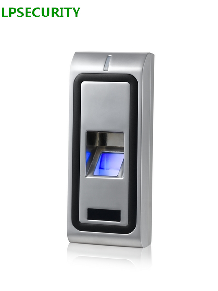 LPSECURITY Standalone Metal Case Door lock Biometric Fingerprint Access Control system RFID 125KHZ WG26 output Reader 500users ac x7 biometric standalone access control reader fingerprint control rfid access control fingerprint access control system