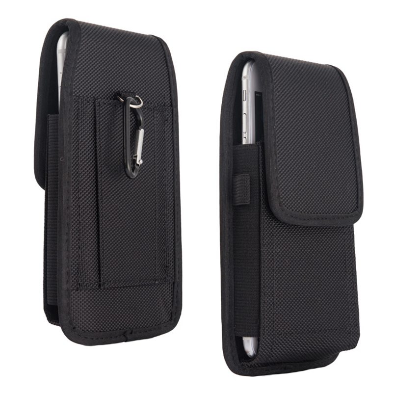 Mobile <font><b>Phone</b></font> Waist Bag 5.2-6.3inch for iphone for Samsung for xiaomi huawei Hook <font><b>Loop</b></font> Holster Pouch Belt Waist Bag Cover <font><b>Case</b></font> image