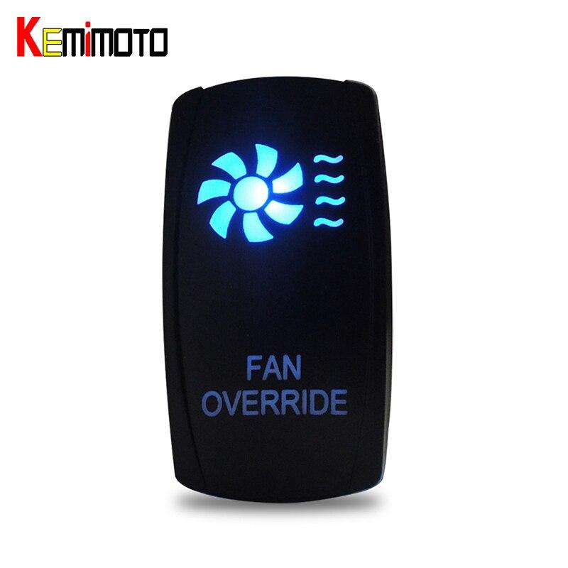 UTV Fan Override LED Reverse Lights LED Light Bar Rocker Switch For Polaris Ranger 900 800 RZR For Can Am Commander 800R 1000