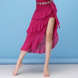 Image 5 - 2018 ใหม่เต้นรำ Belly Dance เสื้อผ้าเครื่องแต่งกายอุปกรณ์เสริมครึ่งวงกลม Wrap เข็มขัดผ้าพันคอสะโพก Belly Dance Over กระโปรงฟรีขนาด