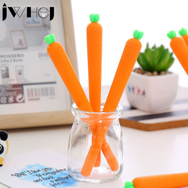 цена на 2 pcs/lot Cute carrots gel pen writing pens stationery caneta material escolar office school supplies papelaria kids gifts