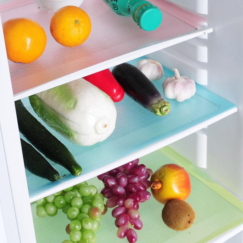 New 4 Pcs/set Fashion Refrigerator Pad Antibacterial Antifouling Mildew Moistureproof Pad Refrigerator Waterproof Mats
