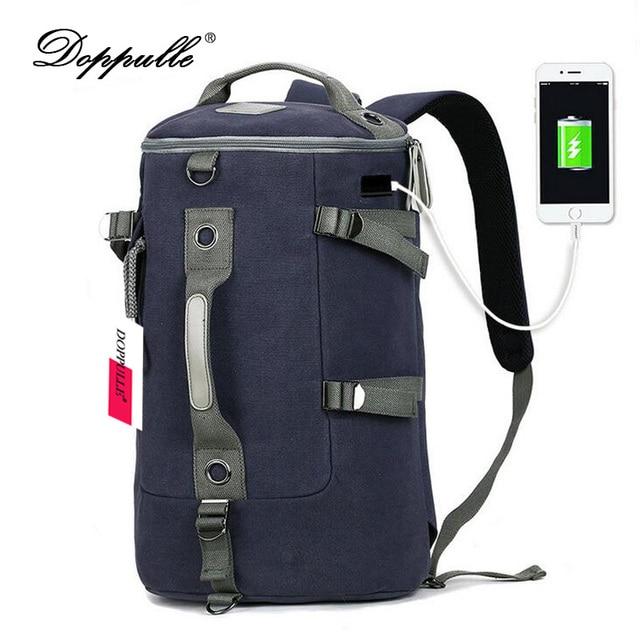 DOPPULLE Brand New High Capacity Canvas Travel Bag Backpacks ...