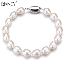 лучшая цена Classic Charm Bracelet Pearl Jewelry fashion white Natural Freshwater Pearl Bracelets Jewelry For Women Gift