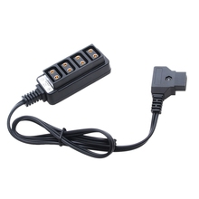 цены Male D-Tap B Type Power Dtap Tap To 4 Female P-Tap Ptap Hub Adapter Electric Splitter For Photography Power Accessories