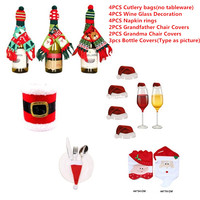 Merry Christmas Decorations for Home Santa Claus Snowman Xmas Noel Dinner Decor Natal New Year Decoration tableware Decor Sets